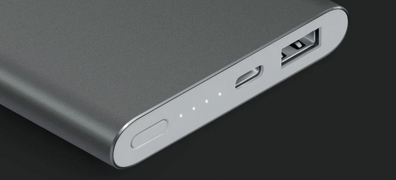 Xiaomi lança bateria externa de 10.000 mAh com USB Type C