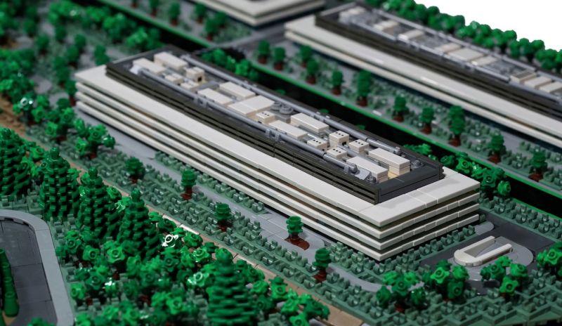 apple park lego 05 - Recriaram o Apple Park com 85 mil peças LEGO