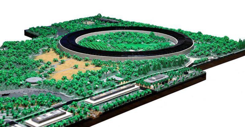 apple park lego 07 - Recriaram o Apple Park com 85 mil peças LEGO