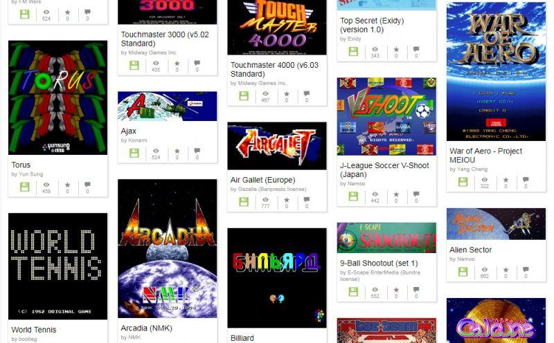 arcade - The Internet Archive recebe milhares de jogos do MAME e do Commodore 64