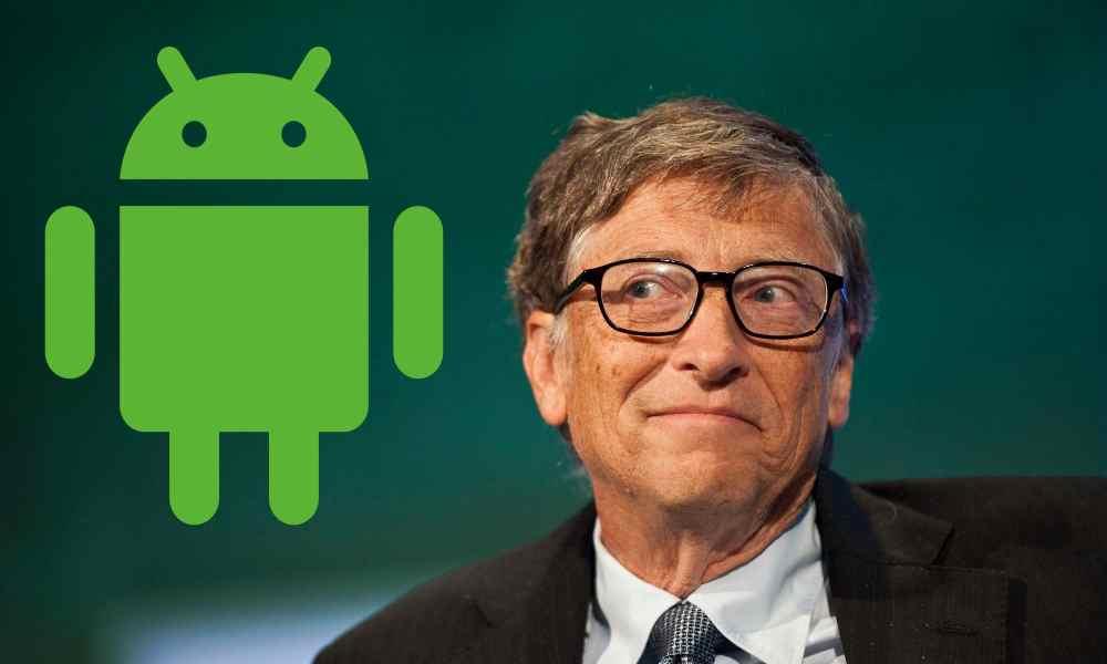 Risultati immagini per bill gates e android